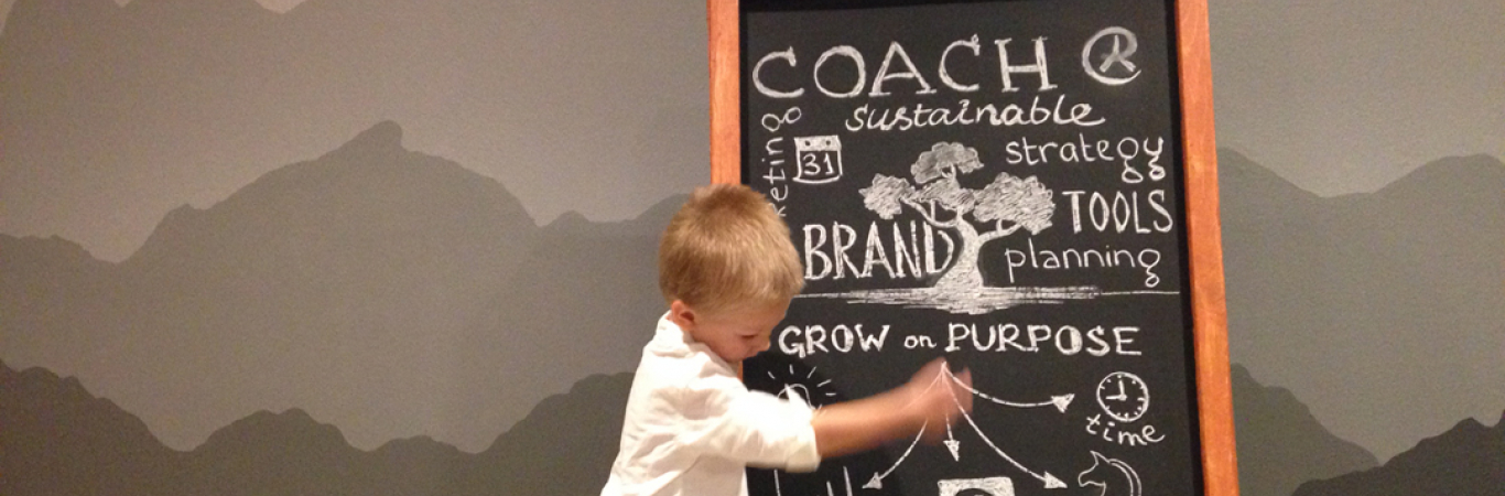 Coaching at Chalkboard